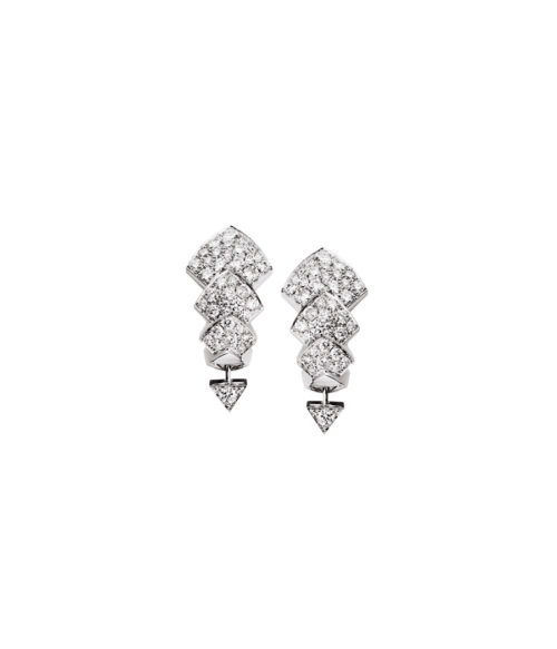 Akillis Python White Gold Diamond Pendant Earrings 9I48aGjuSy
